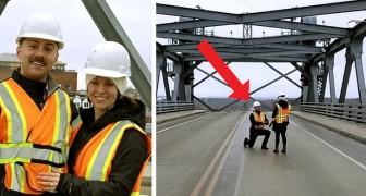 Este engenheiro pediu a sua namorada em casamento na ponte que eles construíram juntos