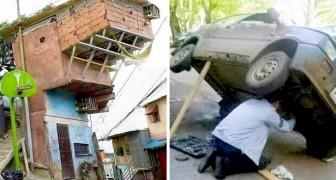 17 keer wanneer huishoudelijke klusjes in acrobatieën veranderden die de zwaartekracht trotseerden