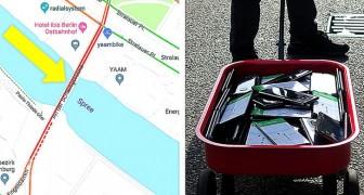 Quest'uomo ha usato 99 cellulari e un carrellino per creare un ingorgo virtuale su Google Maps