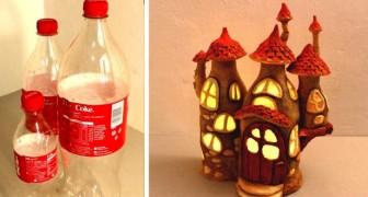 Il metodo fai-da-te per ricavare una magica casa delle fate da bottiglie di Coca Cola