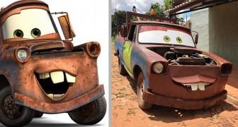 """Voor de verjaardag van zijn zoon veranderde deze man een oude pick-up truck in de sleepwagen uit de film """"Cars"""""""