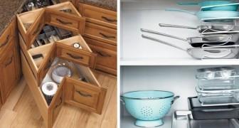 15 soluzioni ingegnose per ricavare spazio extra anche nelle cucine più piccole