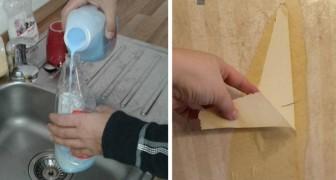 Il metodo rapido ed economico per rimuovere la carta da parati senza sforzi usando l'ammorbidente