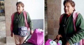 A daughter leaves her sick mother at the bus station without any money or identification papers