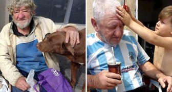 A four-year-old boy convinces his parents to adopt an elderly homeless man who becomes the family's grandfather
