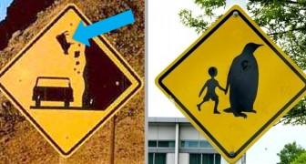 10 verkeersborden van over de hele wereld die een onderscheiding verdienen voor eigenaardigheid en originaliteit
