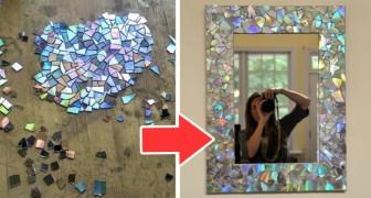 10 progetti strepitosi per riciclare vecchi CD e creare splendidi oggetti a mosaico