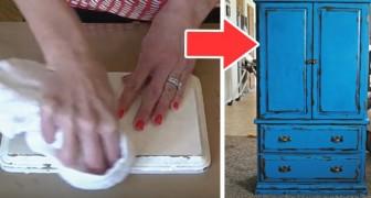 Il trucco facile e super-economico per dare un aspetto vissuto a mobili e oggetti in legno