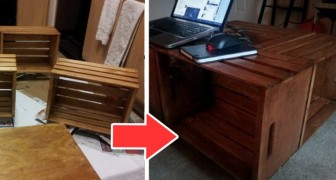 Il tutorial per realizzare un magnifico tavolino da caffè riciclando le cassette di legno della frutta