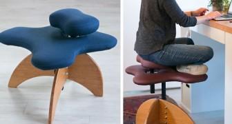 Voici la chaise pour tous ceux qui aiment s'asseoir au bureau les jambes croisées
