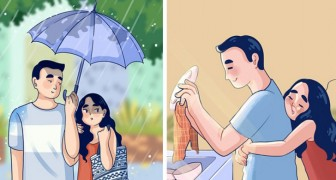 Dieser Illustrator erzählt die Geschichte der Liebe durch 12 tägliche Momente voller Bedeutung