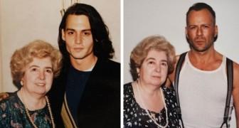 Trouvé dans un marché l'album d'une femme photographiée près des plus célèbres stars du cinéma à Hollywood