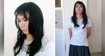 Hij vermomt zich als een vrouw om zijn vriendin te helpen haar examens te halen, maar zijn stem verraadt hem