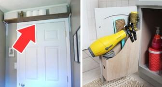 16 soluzioni pratiche e ingegnose per ottimizzare lo spazio in qualunque bagno