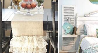 13 dettagli shabby chic pieni di stile da introdurre in camera da letto, cucina e salone