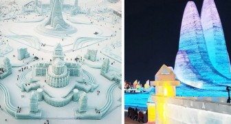 Il festival di sculture di ghiaccio più grande al mondo è un luogo dall'atmosfera incantata