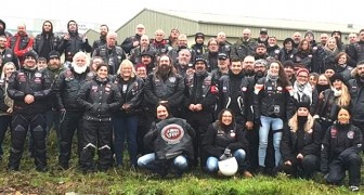 These motorcyclists accompany abused children to court to make them feel safe