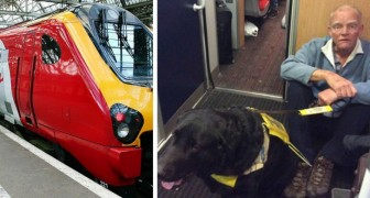 Nobody on the train would give a seat to this almost blind man with a guide dog and he was forced to sit on the ground