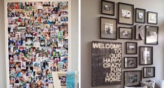 13 modi strepitosi per arredare con le foto di famiglia ed esporle in modo artistico