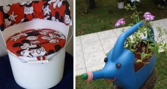 10 pratiche idee per riciclare contenitori di plastica e trasformarli in porta vasi, fioriere e molto altro