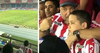 Este papai levou seu filho com deficiência visual para o estádio e narrou todo o jogo para ele