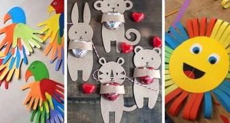 14 splendidi lavoretti con la carta da realizzare insieme ai bambini, riciclando in modo divertente