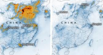 I satelliti della NASA evidenziano la drastica riduzione di biossido di azoto in Cina dallo scoppio del coronavirus