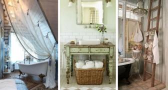14 trovate per trasformare qualsiasi bagno in perfetto stile shabby chic