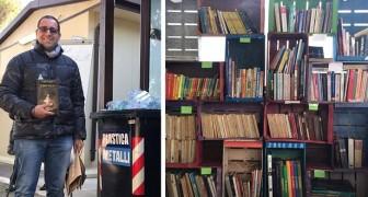 In questa libreria si paga con la plastica: chi porta 10 bottiglie riceve un libro