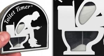 Dit is Toilet Timer, de zandloper die de minuten telt als je te veel tijd doorbrengt op het toilet