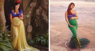 Ein Fotograf porträtiert werdende Mütter als Disney-Prinzessinnen, die stolz ihren großen Bauch zeigen