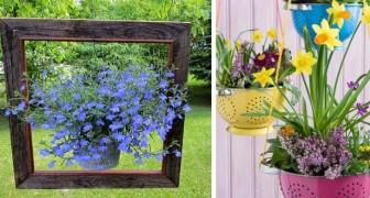 12 ottime soluzioni per decorare la casa e il giardino con piante sospese