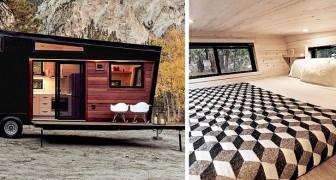 Un'azienda ha creato una lussuosa casa mobile di design che sembra provenire direttamente dagli anni '60