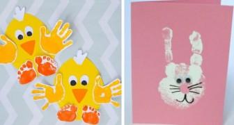 14 lavoretti di Pasqua da realizzare con la sagoma delle mani, ideali per i bambini