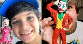 His family was too poor to buy him toys; at 10 years old, he makes his own action figures out of molding clay