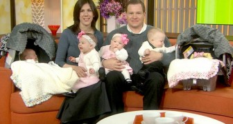 A couple adopts three children because they cannot conceive, but then she suddenly becomes pregnant with twins