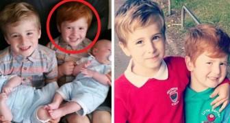 Pestkoppen hebben het gemunt op een 3-jarige alleen omdat hij rood haar heeft: de moeder hekelt de gebeurtenis op sociale media