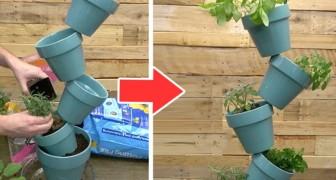 Il semplice metodo fai-da-te per realizzare una sorprendente fioriera sospesa riciclando vasi di terracotta