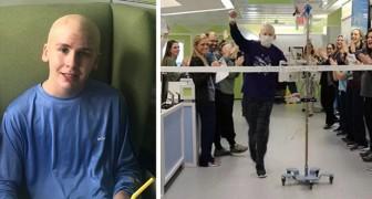 Joey, 13-åringen som behandlas för cancer och som klarat en speciell maraton genom sjukhusets korridorer