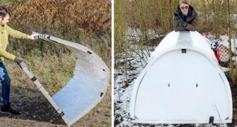Un ingegnere ha realizzato degli igloo per senzatetto: sono impermeabili e mantengono la temperatura corporea