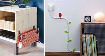 14 soluzioni ingegnose per nascondere tutto ciò che è antiestetico in casa