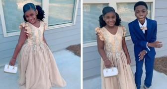 O pai da menina não se apresenta para o baile pai e filha: o seu irmão decide acompanhá-la para fazê-la feliz