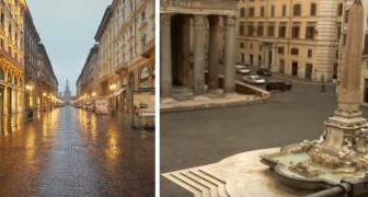 Coronavirus: con lo stop delle attività, le città deserte di Roma e Milano tornano a respirare aria pulita