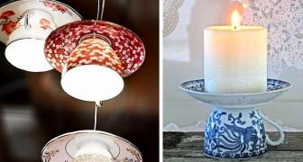 11 idee brillanti per riciclare vecchie tazze da tè trasformandole in fantastici oggetti d'arredo