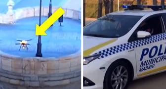 In Spagna la polizia utilizza i droni per rimproverare le persone in strada durante la quarantena