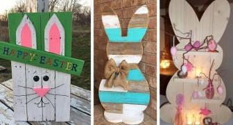 15 trovate originali per riciclare i pallet e trasformarli in splendide decorazioni di Pasqua