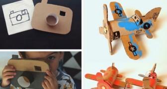 5 petits travaux en carton ingénieux pour stimuler la créativité des plus petits