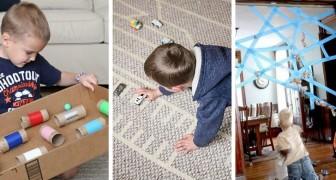 10 attività creative per trascorre il tempo con i bimbi in casa in modo fantasioso