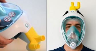 Covid-19: un ingegnere italiano trasforma le maschere da sub di Decathlon in respiratori per gli ospedali