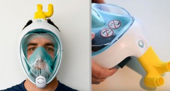 Coronavirus: an Italian engineer manages to transform Decathlon diving masks into respirators